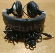 TECHNICS Professional DJ Stereo Headphones w/ Cable: RP-DJ1200 Black and Silver