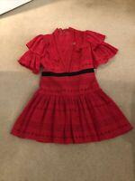 Self-portrait Red Dress Size 10 Uk 6 US