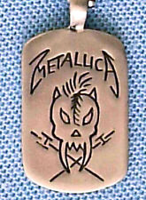 More details for metallica heavy metal pendant mens boys necklace chain    bpc 046