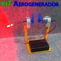 Kit DIY Mini Aerogenerador didactico generador viento educativo Electronica