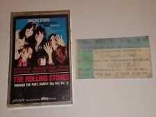 Rolling Stones Through The Past Darkly Vol 2 Cassette + 1994 Solder Field Ticket