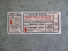 1934 WORLD SERIES TICKET Stub - Detroit Tigers - Game 6