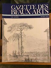 Gazette des Beaux-Arts Mars 1978 PUF n°1310 Versailles Cozens Jing-Lar Frescoes