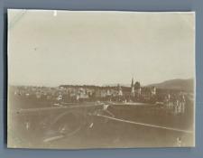 Suisse, Berne, Pont du Kirchenfeld et le Musée  Vintage citrate print. Vintage S
