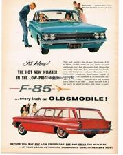 1961 Oldsmobile F-85 Station Wagon and Sedan Automobile Car 1960 Vtg Print Ad