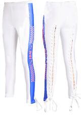 Puma x Rihanna Fenty Womens Side Strip Jersey Tight Leggings White 577293 03 X43