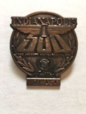 1992 Indy 500 Bronze Pit Badge honoring Cadillac. w/free ticket holder