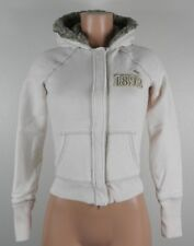 Abercrombie Junior's Long Sleeve Hooded Jacket-Zipper/Snap-Ivory-Size XL