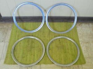 "84-89 Ford Mercury Polycast 14"" Wheel Trim Beauty Rings Set of 4 Mustang Capri"