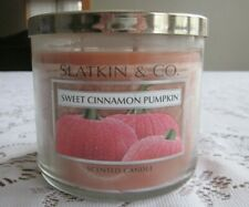 Slatkin & Co.  Sweet Cinnamon Pumpkin 3-wick Candle 14.5 oz NEW!