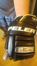 "Mens Hockey gloves Hespeler Gt F30 14.5"". Good condition holes in palms."
