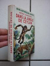 BIBLIOTHEQUE  VERTE  /  RANDOW / DANS LA JUNGLE DE CEYLAN / JACQUETTE  1952