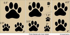 NEW-Dog Paws~Shapes STENCIL~ DIY U Paint Puppy Animal Veterinarian Friend Pet