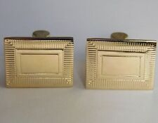 Vintage English gold-tone cufflinks Strattons Metal Jewellery for men kc