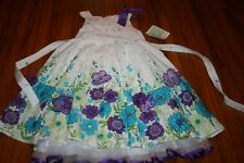 Bonnie Jean 6x Beautiful dress flowers NWT