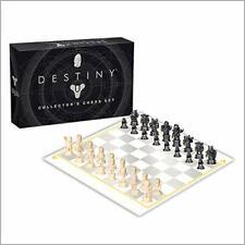 USAOPOLY Destiny Chess Set | Destiny 2 Video Game Chess Game | 32 Custom Sculpt