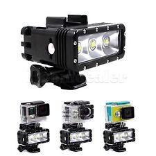 30M Diving LED Flash 3 Light Mode For GoPro Hero 4 3+ 3 SJCAM SJ4000 SJ5000 #GY