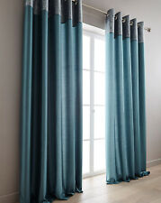 Morgan Glitz Metallic Top Border Ring Top Lined Curtains With Soft Touch Fabric