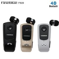 Fineblue F920 Wireless BT 4.0 Headset Retractable Earphone Headphone W/ Clip Mic