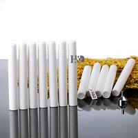 Set 12 White Empty Plastic Spray Perfume Bottle Refillable Atomizer Travel 10ml