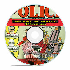 Crime Drama, Suspense, Vol 8, Police Comics, Detective Golden Age Comics DVD D81