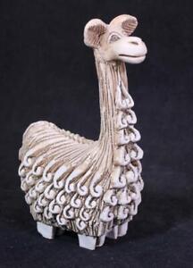 Vintage Art Pottery Stoneware Llama Alpaca Figurine Artesania Rinconada