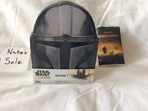 Topps Star Wars The Mandalorian Series 1 Metal Helmet Tin and Wrapper, no cards