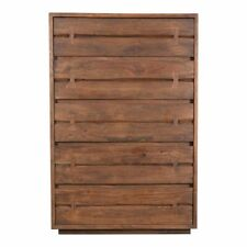 """54"""" T Thomas Dresser Live Edge Drawers Hand Crafted Solid Acacia Wood Rustic"""