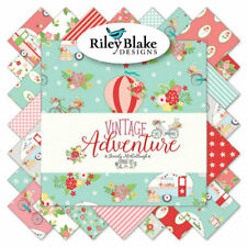 1/2 yd cuts Riley Blake Vintage Adventure Prints New Quilting Fabric Camper