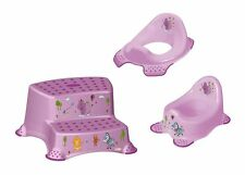 Lot De 3 Z Hippo mauve rehausse WC + pot WC bébé + Tabouret deux niveaux