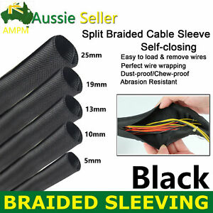 Pet Sleeving Braided Sleeve Split Tube Power Cable Organize Self-around Wrapping