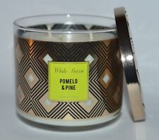 BATH & BODY WORKS POMELO PINE SCENTED CANDLE 3 WICK 14.5OZ LARGE MANDARIN BALSAM