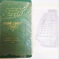 Chicago International Exposition Wellcome Institution Invitation 1933-1934 Book