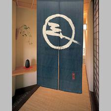 Noren Door Curtain Room Doorway Divider Japanese Cotton Linen 85 x 150cm Blue