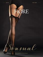 Fiore Diva Luxury French Cuban Heels Seamed Suspender Belt Stockings 20 Den