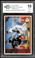 2010 Topps Cards Your Mom Threw Out #CTM162 Derek Jeter Card BGS BCCG 10 Mint+
