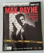 Brady Games Strategy Guide Max Payne (Sony PlayStation 2, XBOX, PC, 2001 REMEDY)