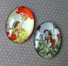 2 pcs 30x40mm Domed Oval Cabochons Character cabochon Fairy cabochon