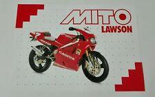 Prospectus Catalogue Brochure Moto Cagiva Mito Lawson 1996