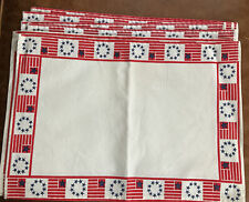 New listing Patriotic Usa Independence Day Flag American 4Th July Set Of 6 Cloth Placemats