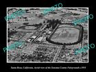 OLD LARGE HISTORIC PHOTO OF SANTA ROSA CALIFORNIA, VIEW OF THE FAIRGROUNDS c1955