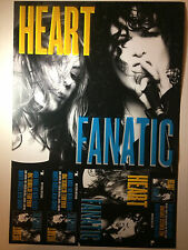 Heart RARE Fanatic Poster Promo + FREE POSTER! NEW Double-Sided Nancy Wilson