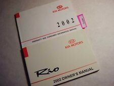 2002 Kia Rio Owners Manual Good Free Shipping 8890-92