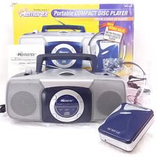 Memorex Portable CD Player Radio MP4112 Boombox + Cassette Tape Player, in Box