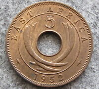 BRITISH EAST AFRICA GEORGE VI 1952 5 CENTS, UNC