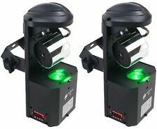 (2) American DJ ADJ Inno Pocket Roll DMX LED 12W Barrel Mirror Scanner Lights