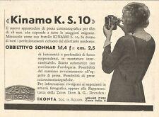 W2968 Cinepresa Zeiss Ikon KINAMO K.S. 10 - Pubblicità del 1932 - Old advert