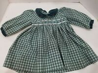 Vintage Carriage Boutique Friedknit Creations Plaid Smocked Dress Size 18 Months