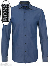 NWT Hugo Boss Black Label By Hugo Boss Slim-Fit Solid Lightweight Shirt Size L