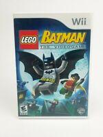 LEGO Batman: The Videogame (Nintendo Wii, 2008) Complete
